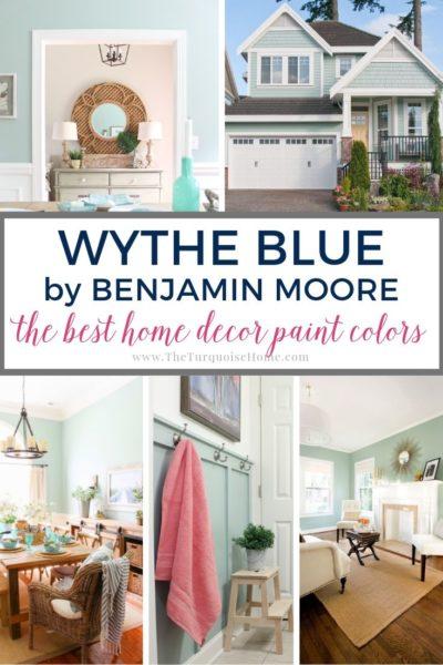 Benjamin Moore Wythe Blue - the best home decor paint colors #wytheblue #benjaminmoore #paintcolors
