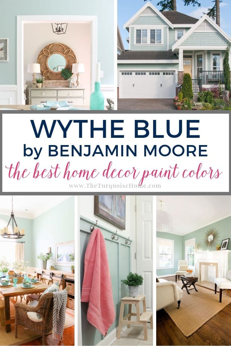 Benjamin Moore Wythe Blue - the best home decor paint colors #wytheblue #benjaminmoore #paintcolors