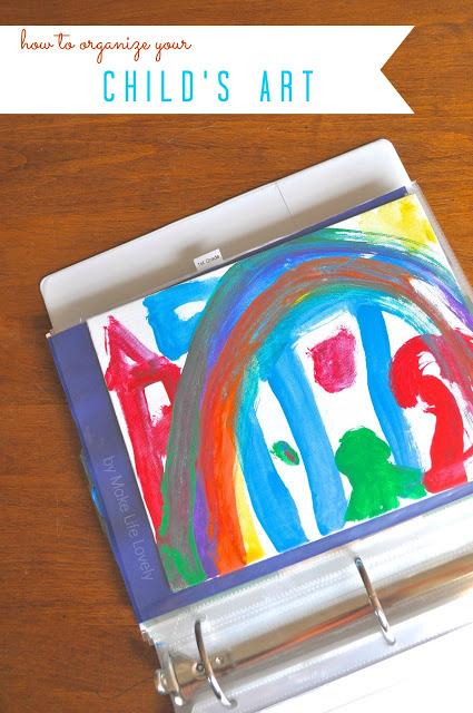 Artwork binder for kids art papers