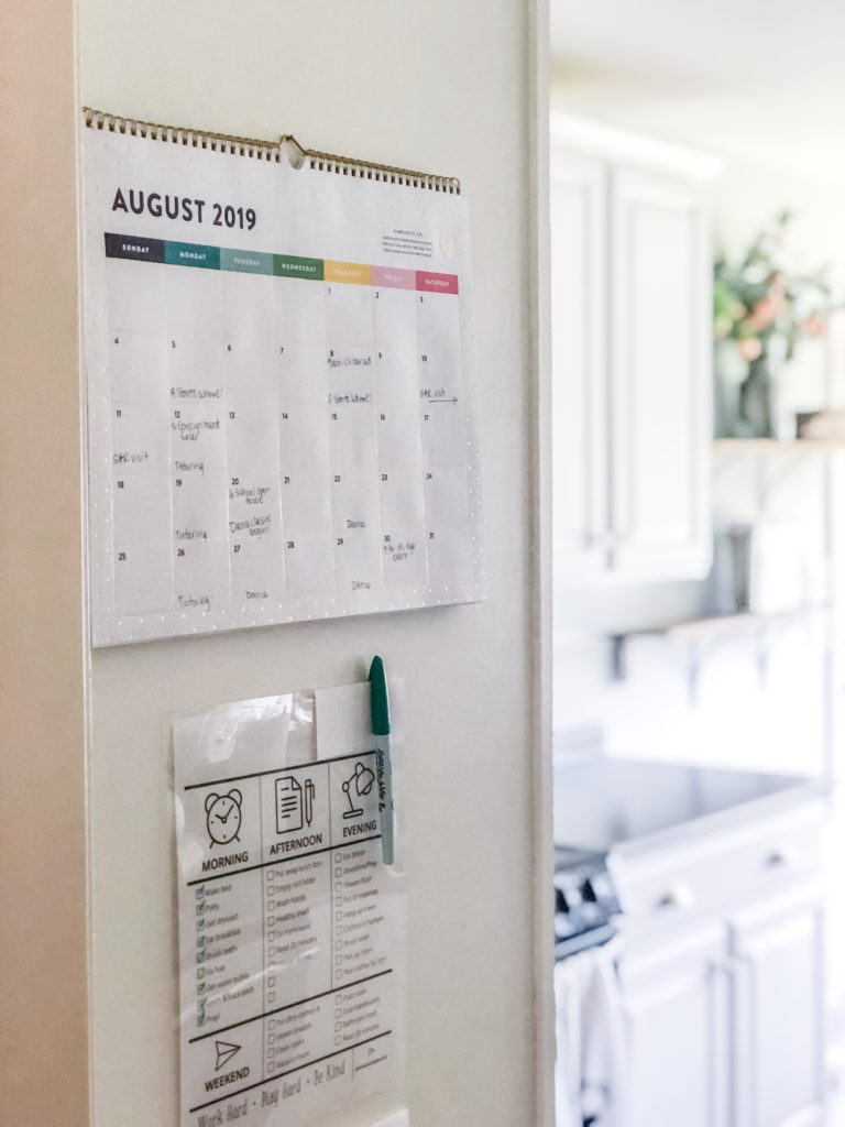 Organizing Made Simple Family Calendar Ideas The Turquoise Home