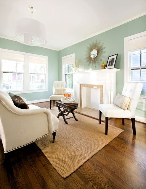 Wythe Blue living room via Houzz