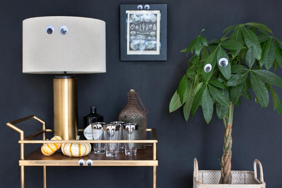 Add google eyes to your current fall decor to make to seem appropriate for Halloween!