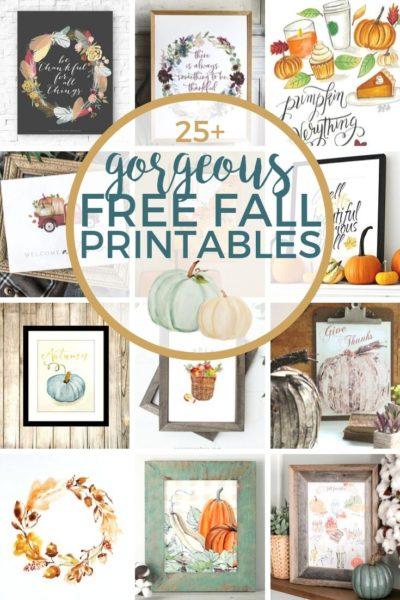 25+ Gorgeous Free Fall Printables