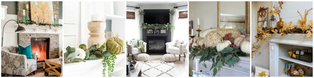 Seasonal Simplicity Fall Mantel Decor Inspiration