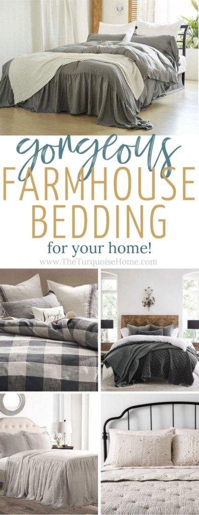 Tons of farmhouse bedding options for your home!