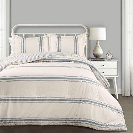Striped 3-Piece Comforter Set | farmhouse bedding