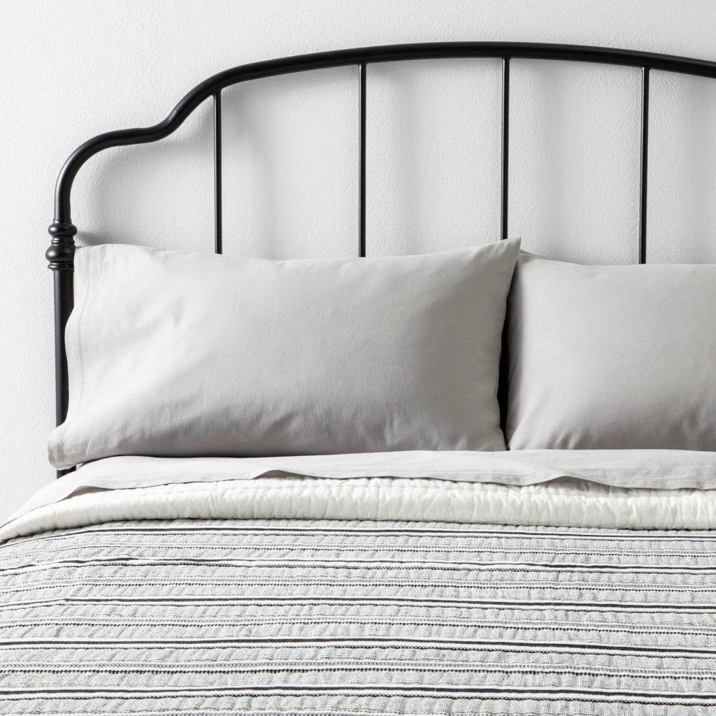 Textured Stripe Quilt | Farmhouse Bedding