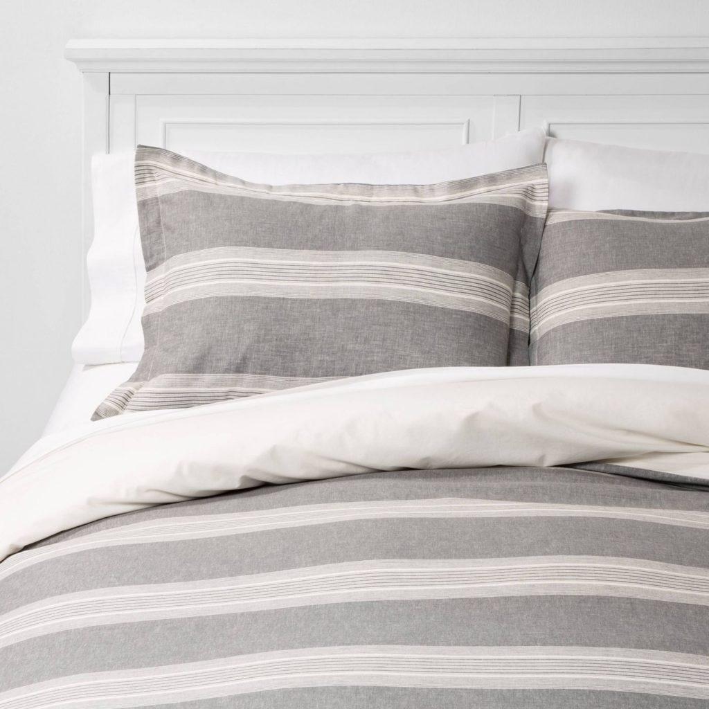 Chambray Gray Duvet Set | farmhouse bedding