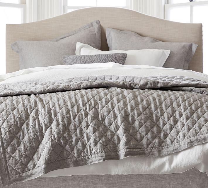 Flagstone Linen Gray Quilt | farmhouse bedding