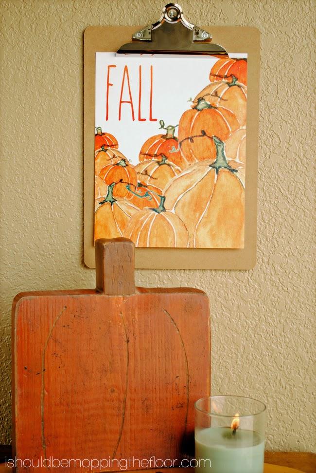 Pumpkin Watercolor Printable | 25+ Free Fall Printables