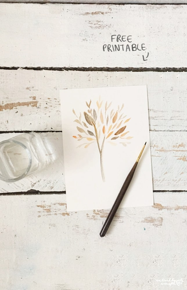 Hand-painted Tree Printable | 25+ Free Fall Printables