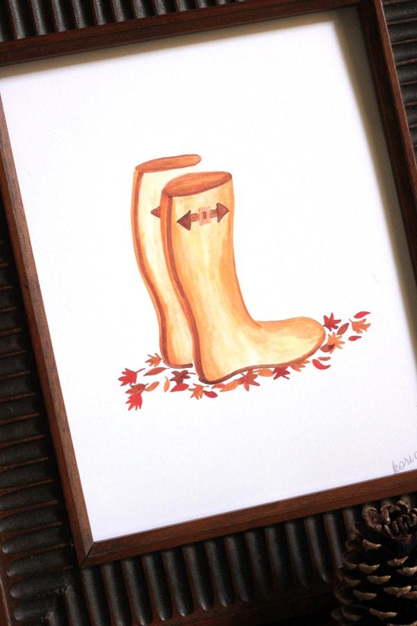 Fall Rain Boots Printable | 25+ Free Fall Printables