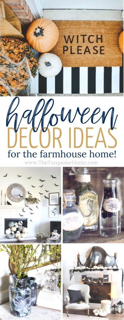 Halloween Decorations | Halloween Decor Ideas | Neutral Halloween Decor | Halloween Decor for Farmhouse Style Homes