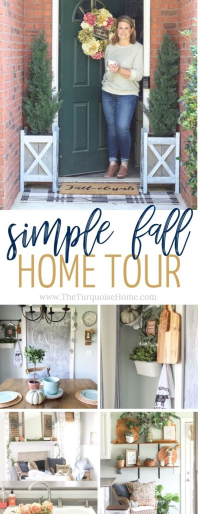 Simple Fall Home Tour & Fall Kitchen Decor Ideas - love this farmhouse style!!