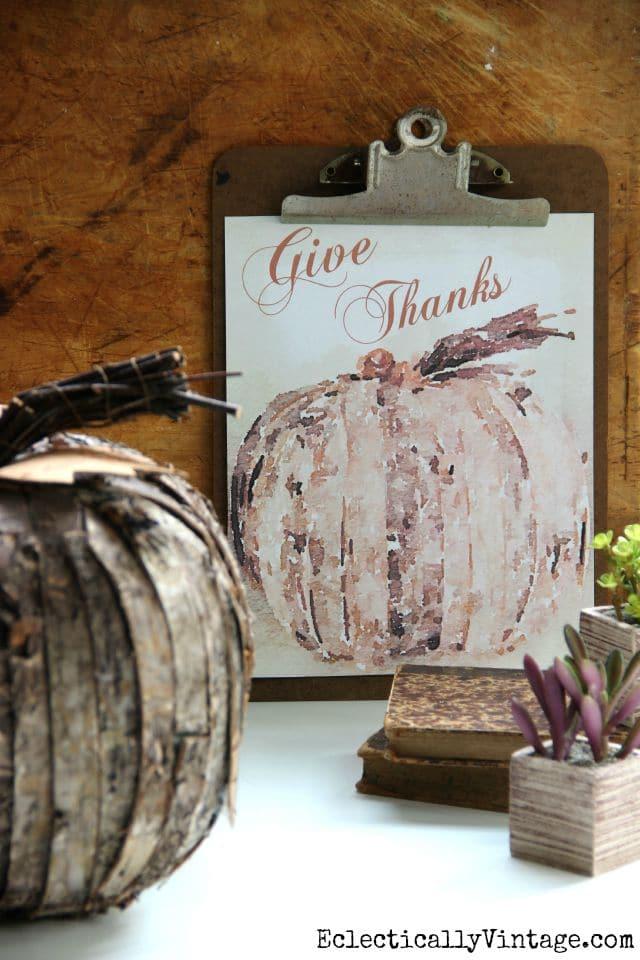 Watercolor Pumpkin Free Printable | 25+ Free Fall Printables