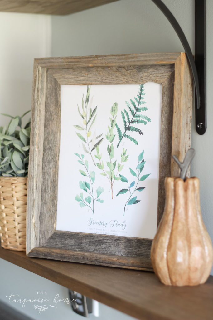 Greenery Study Fall Printables for you! Enjoy free fall printables for your home decor.