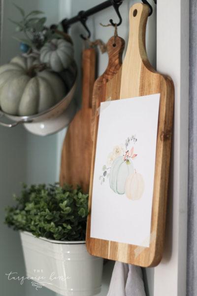 Blue Pumpkin watercolor free fall printable!
