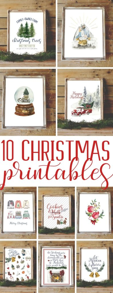 10 Beautiful Christmas Printables for Your Home!