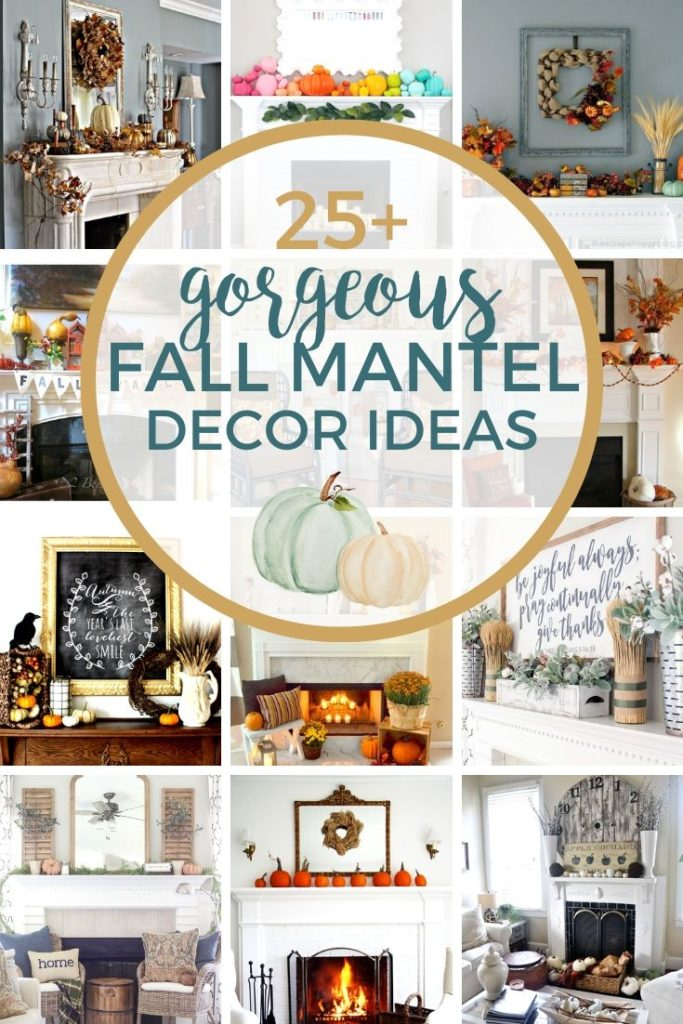 25+ Fall Mantel Decor Ideas