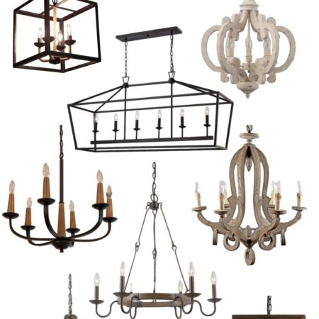 The most GORGEOUS Farmhouse Chandeliers for your home!