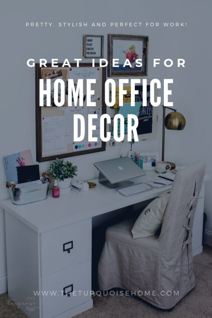 Home Office Decor Ideas - pretty, stylish and functional office decorating ideas!