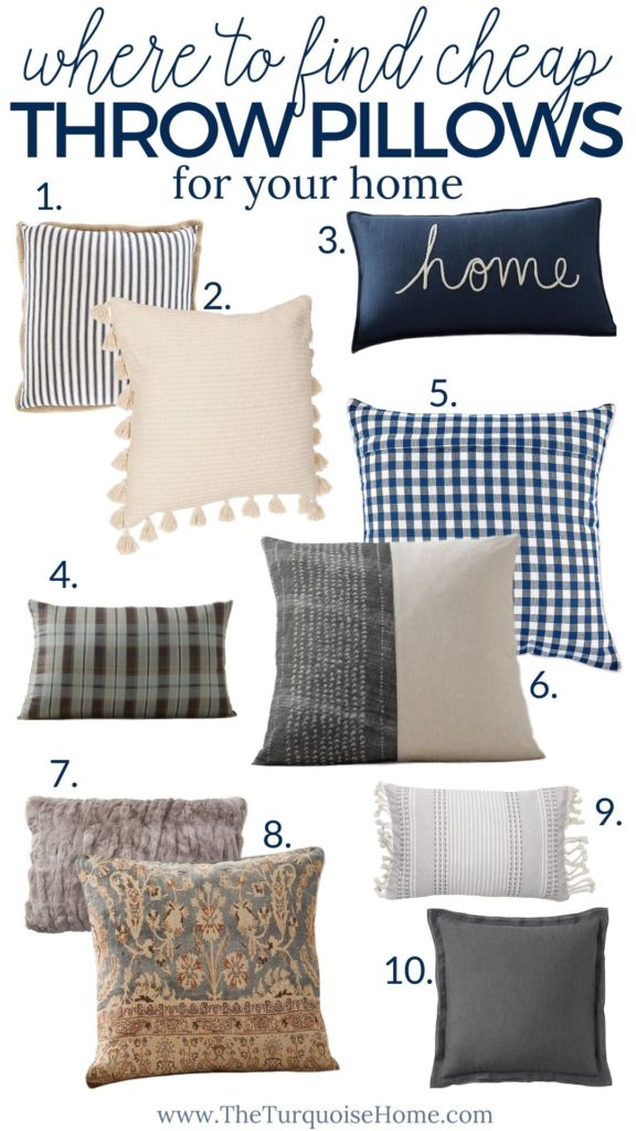 Where To Find Cheap Throw Pillows Online The Turquoise Home