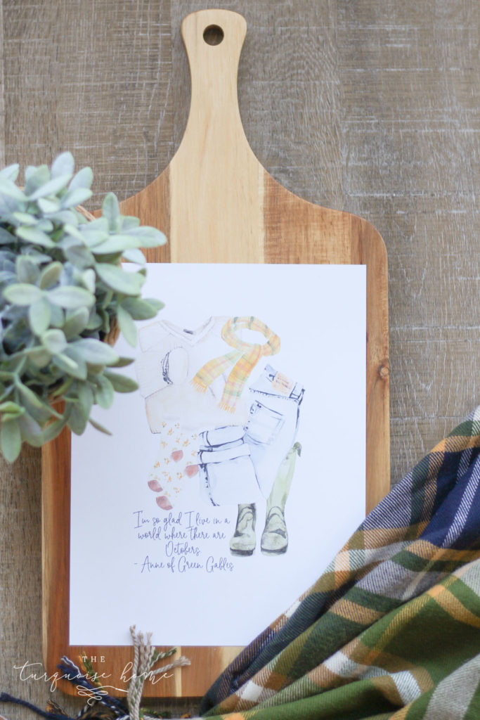 Free Fall Printables | Fall Outfit Printable | Anne of Green Gables | I'm so glad I like in a world where there are Octobers.