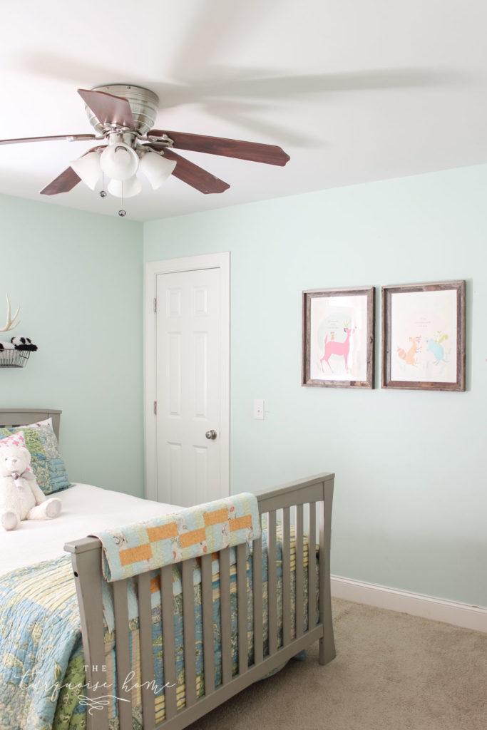 Rooms decor ideas for girls | girls bedroom ideas | turquoise and pink girls bedroom decor - deer and mouse art prints