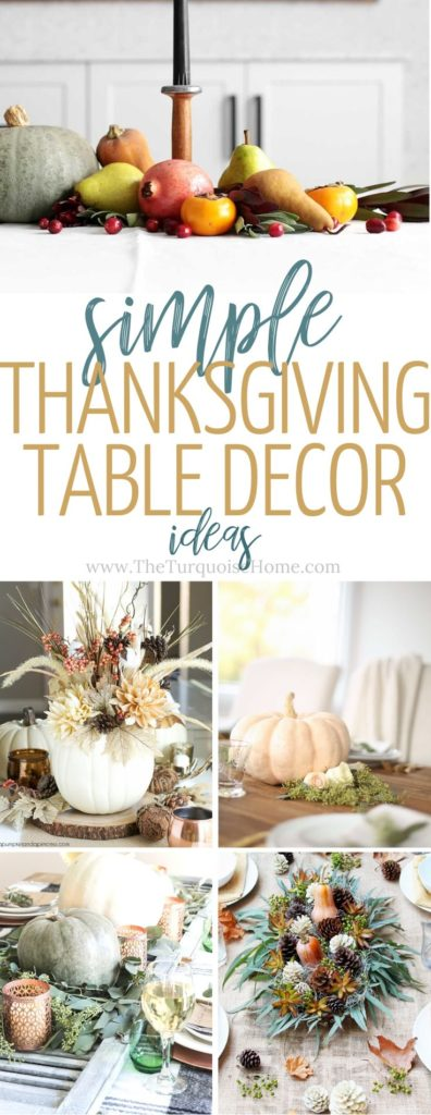 Simple Thanksgiving Table Decor Ideas