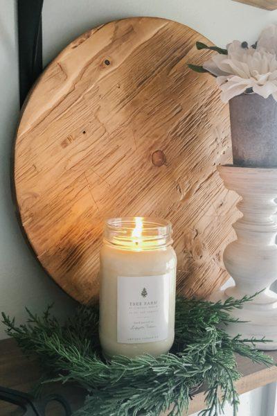 Tree Farm Candle for Christmas
