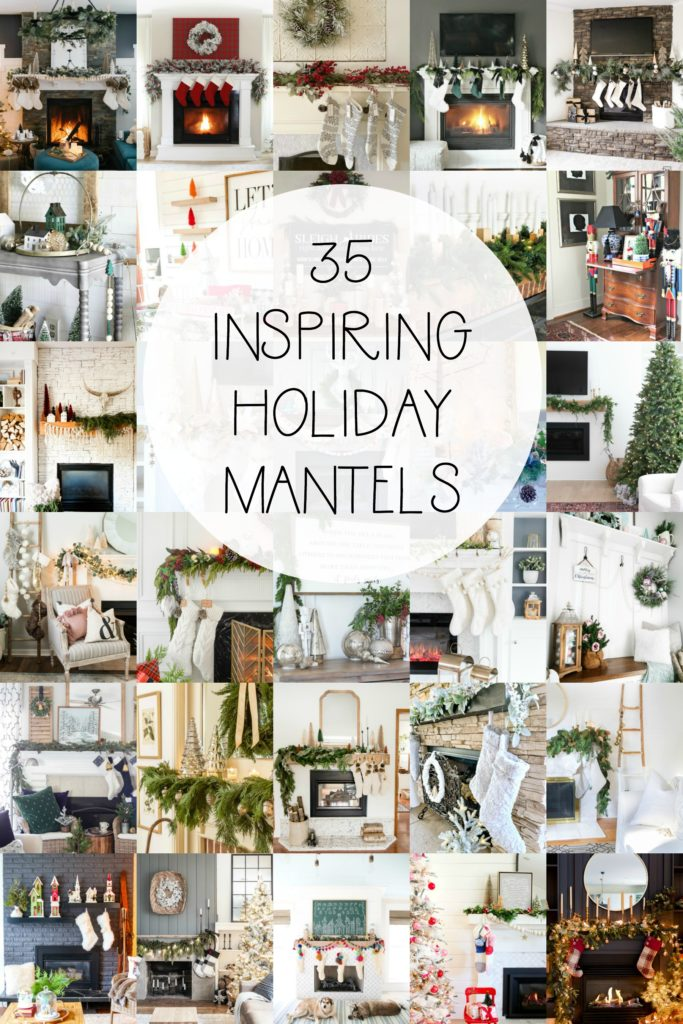 35 Inspiring Holiday Mantels | Christmas Mantel