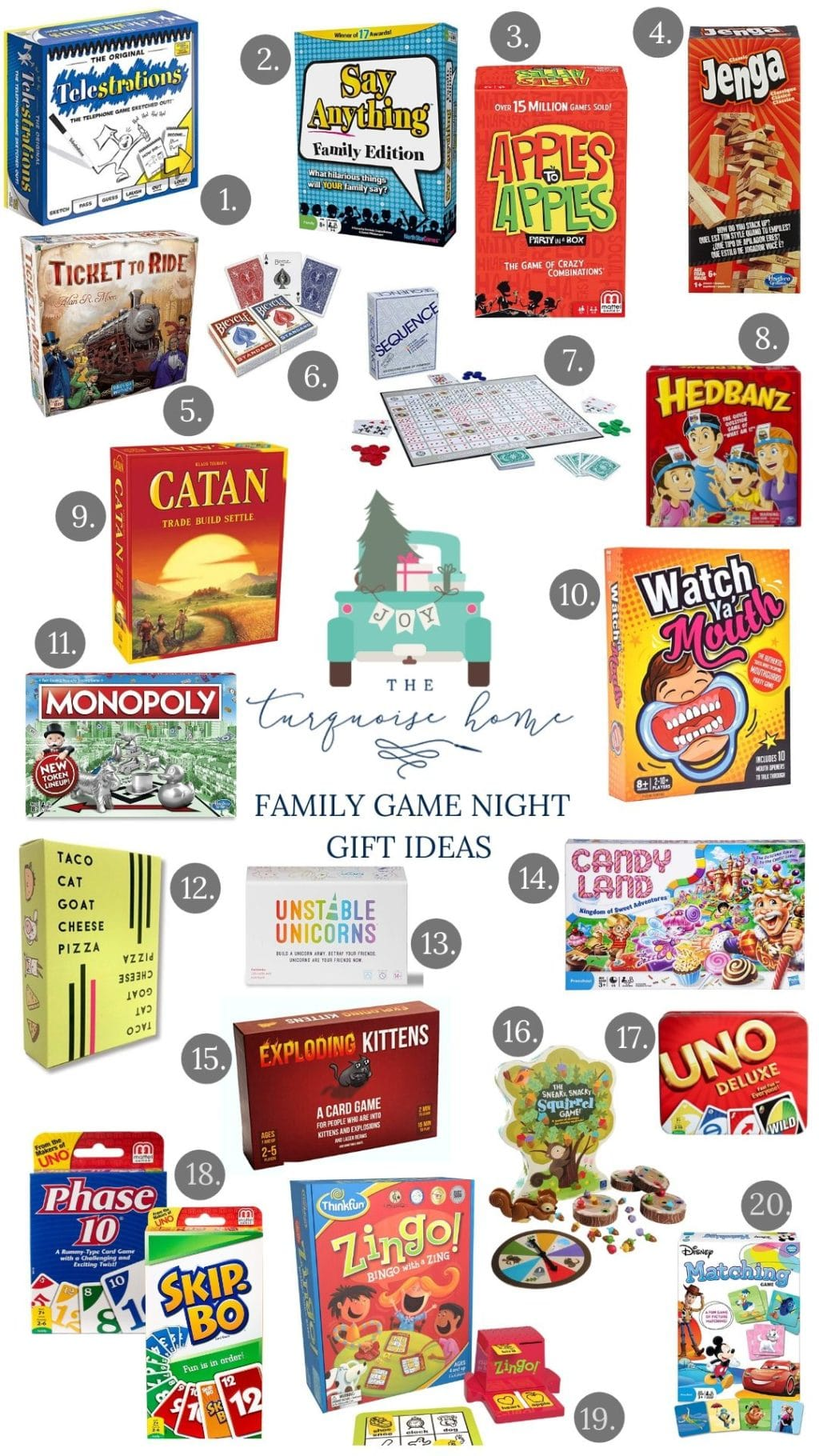 Gift Guide for Family Game Night! #giftguide