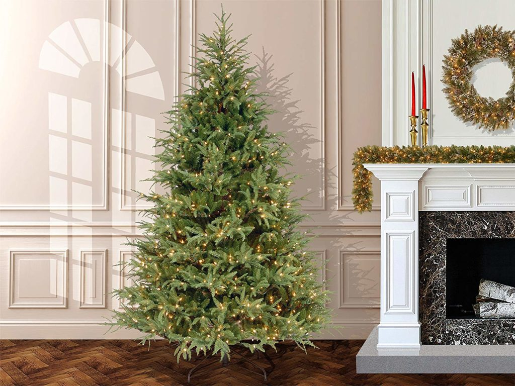 "The BEST Artificial Christmas Trees | National Tree 7.5 Foot ""Feel Real"" Frasier Grande Tree with 1000 Clear Lights"