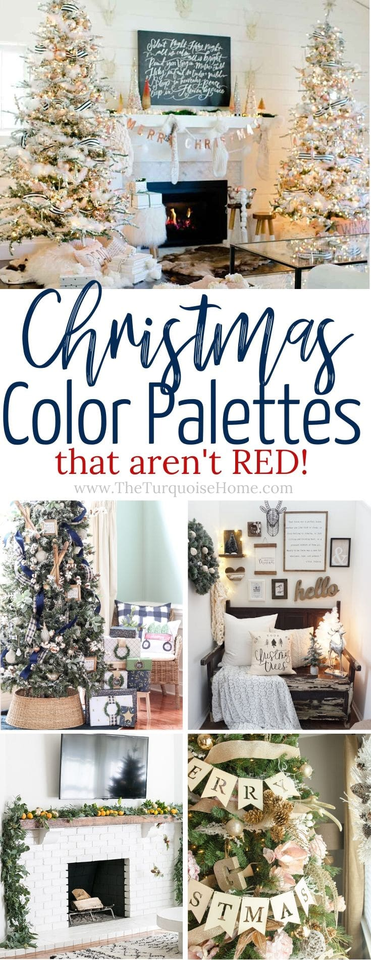 Decorate with these gorgeous Christmas color palettes that aren't red!