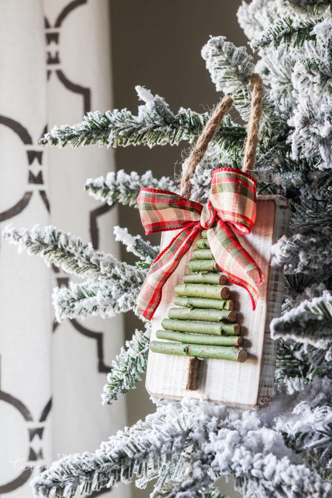 DIY Twig Christmas Tree Ornament