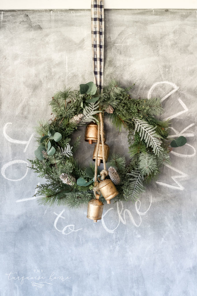DIY Winter Wreath for Christmas and then keep it up through February!