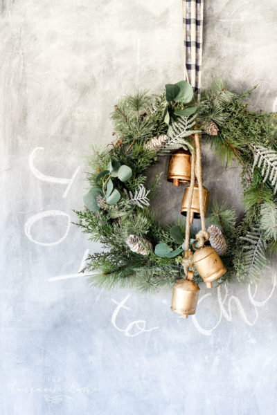 A DIY Winter Wreath - perfect for the holidays and then transitioning right into January!