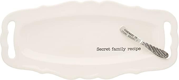 Secret Family Recipe Serving Tray
