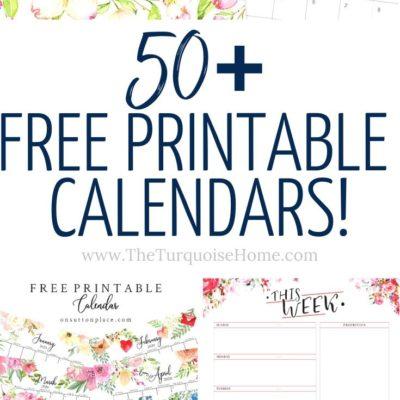 50+ Free Printable Calendars