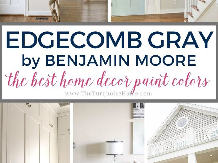 Edgecomb Gray by Benjamin Moore wall color | paint color