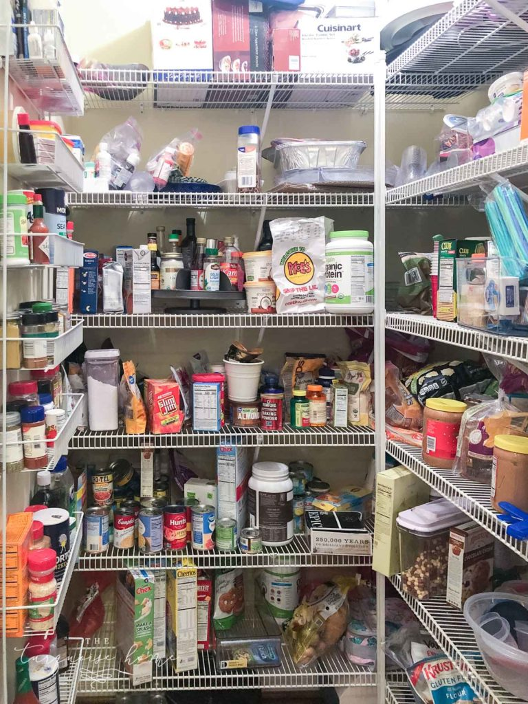 How to Organize a Pantry - the before pic.