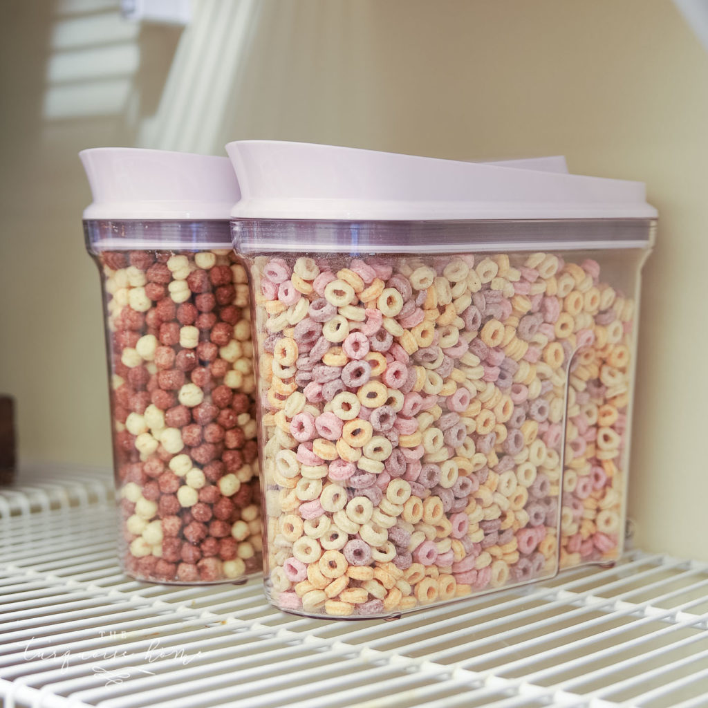 How to Organize a Pantry - cereal in canisters