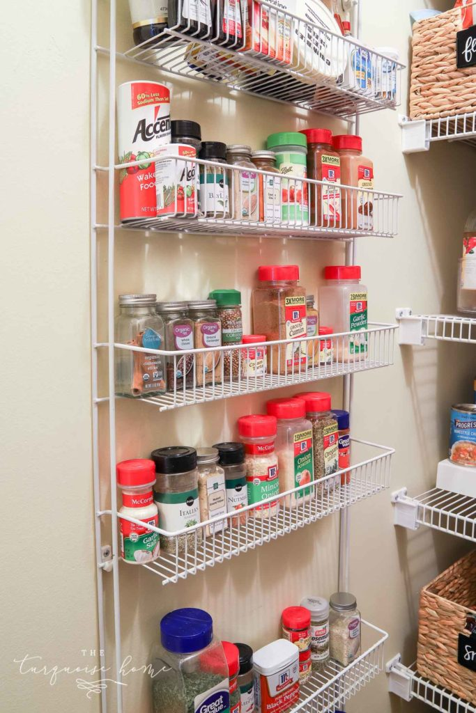 How to Organize a Pantry - extra wall storage or back-of-the-door storage