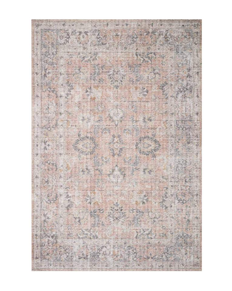 Naples Blush and Gray Patterned Rug