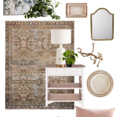Weekend Sales - rug, chandelier, mirror, art, table, pillows, baskets, decor