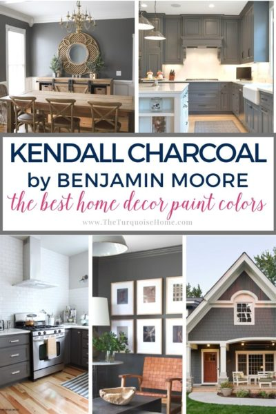 Benjamin Moore Kendall Charcoal - a rich, moody dark paint color that looks beautiful in any room!