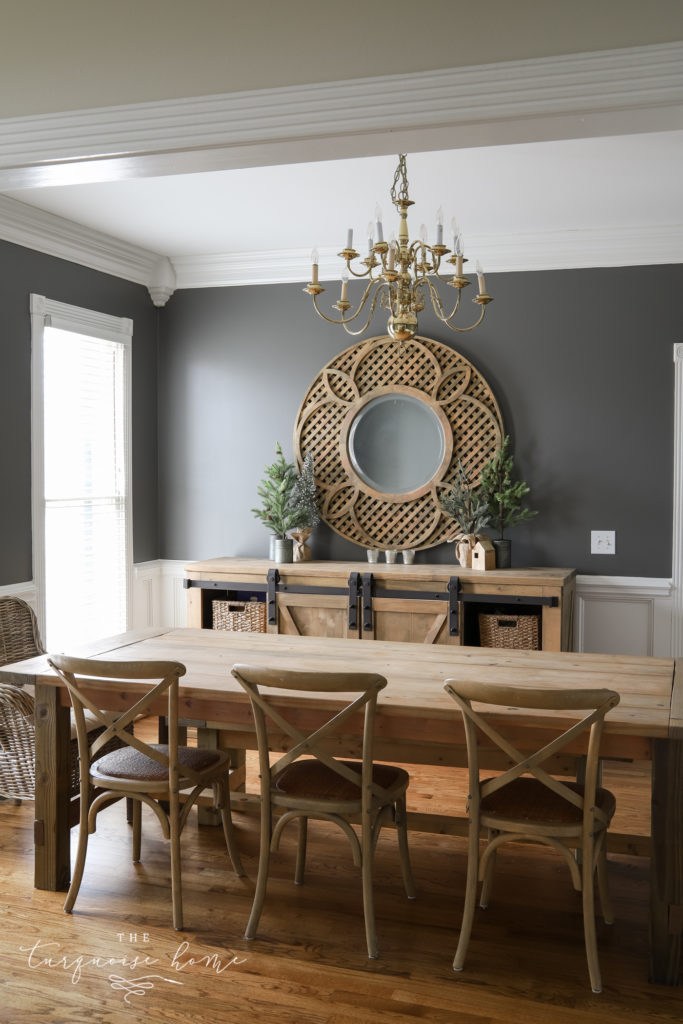 Kendall Charcoal Walls in the Dining Room