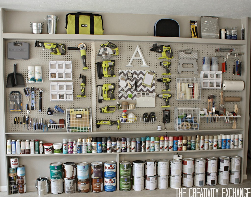 This amazing pegboard wall organization system is dreamy from The Creativity Exchange