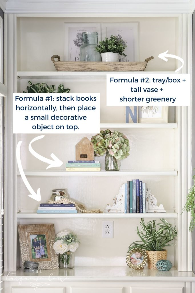 How to Decorate Open Shelves with Simple Formulas