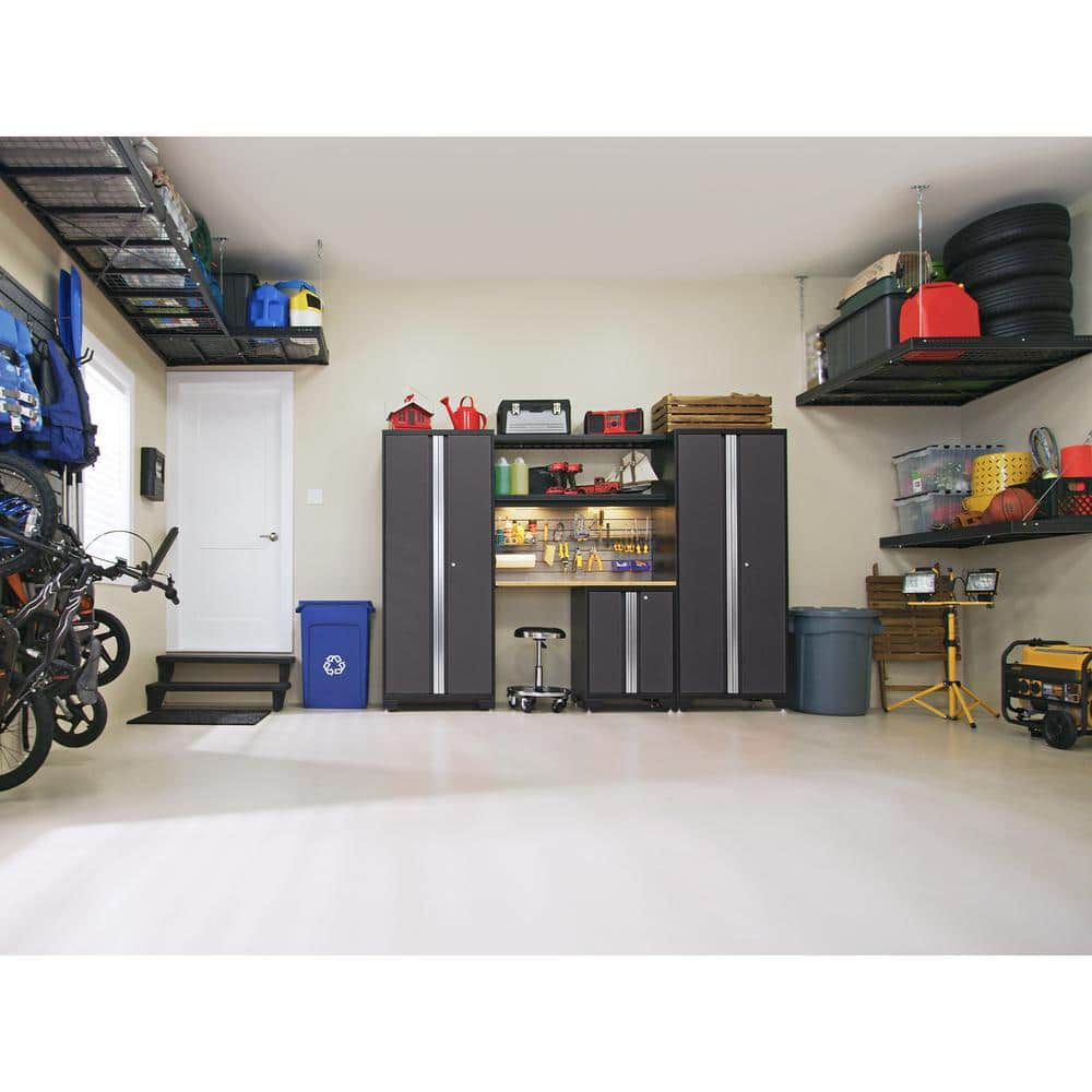 charcoal gray newage products garage storage systems